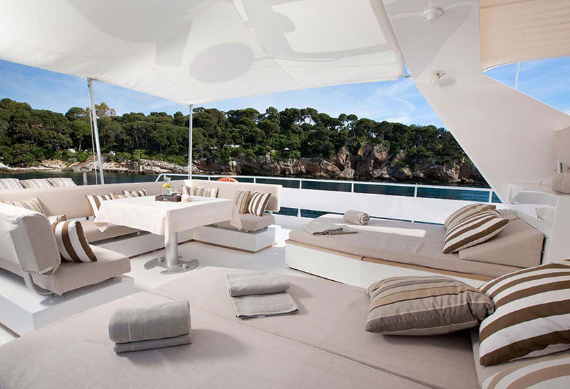 yacht deck lounge contemporary outdoor