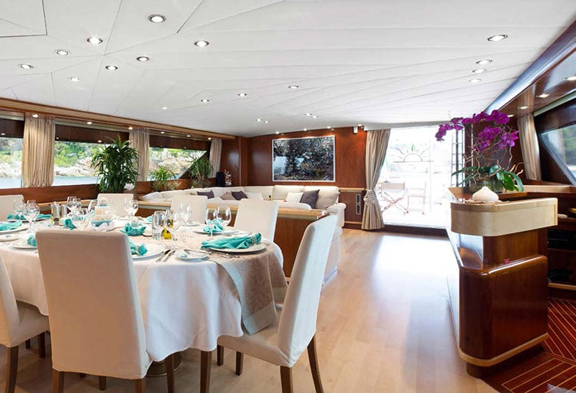 dining room yacht