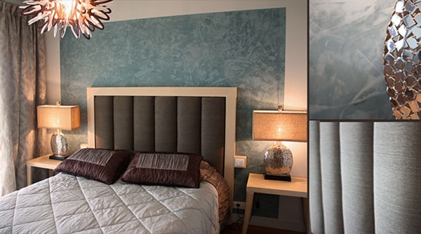 padded headboard bedroom