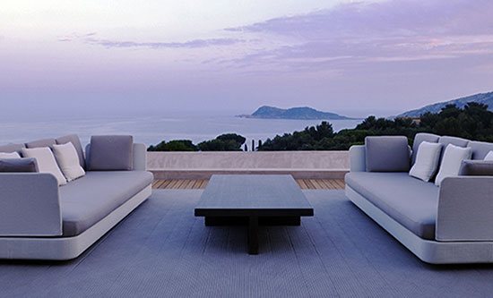 outdoor furniture high-end design cushions anthracite